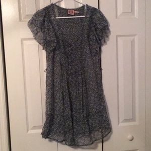 Juicy couture floral printed tunic top flowy